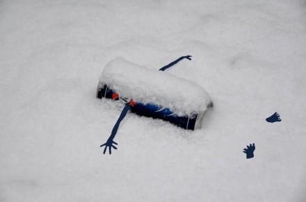 Streetart La neige