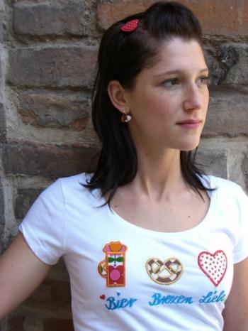 Bier Brezen Liebe Shirt von meinherzblut