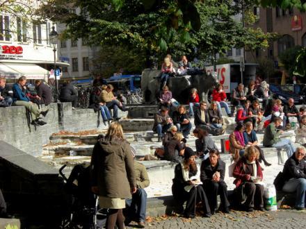 Rindermarkt Brunnen in München