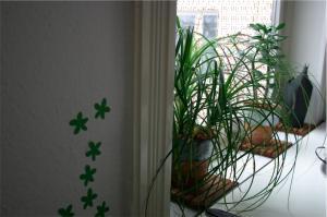 Das Büro in neuer, grün-weißer Pracht