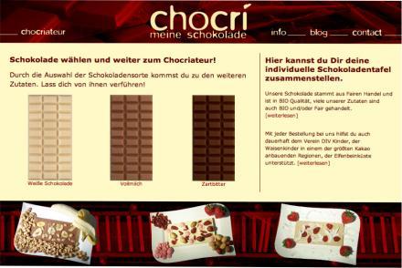 Chocri - Schokolade zum selbst zusammenstellen