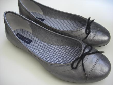 Neuer Schuhschmuck: Silber Ballerinas