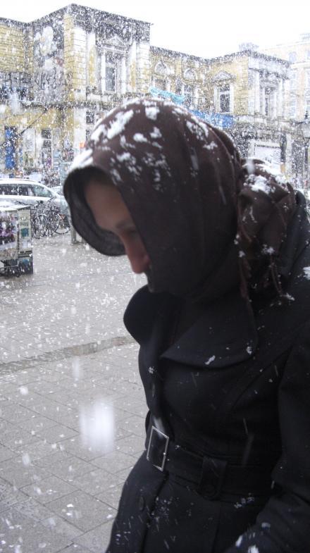 Schneetreiben in Hamburg
