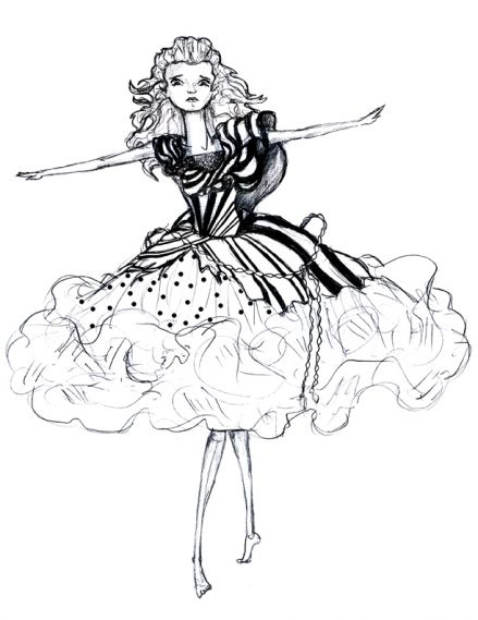Kostüm aus Alice im Wunderland von Tim Burton