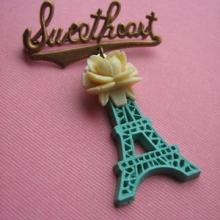 Eiffel for you Vintage Brosche
