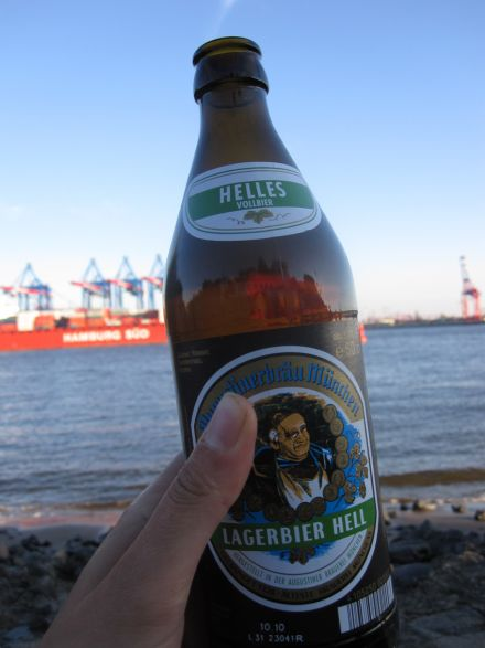 Augustiner Bier am Elbstrand
