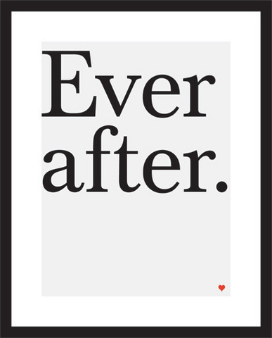 Ever after Print über Uppercase Gallery