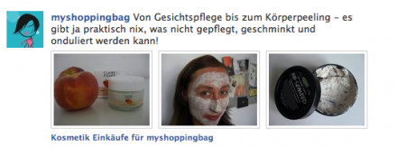 facebook Seite myshoppingbag
