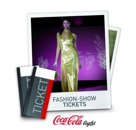 Fashion Show Tickets von Coke