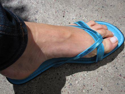 Türkise Flip Flops