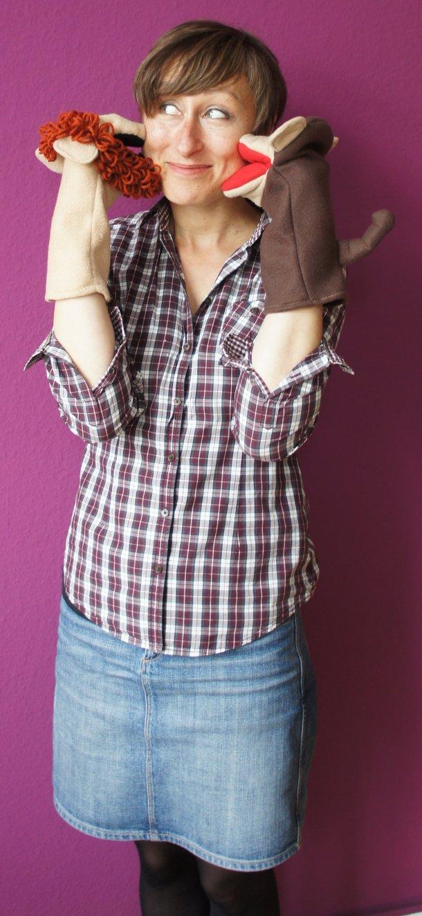 Handgefertigte Handpuppe von Puppets by Margie auf Etsy