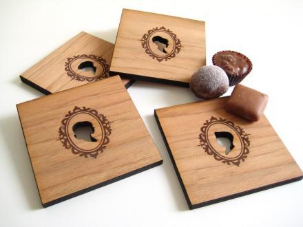 Holzuntersetzer von Peppersprout