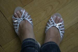 Silber Sandaletten