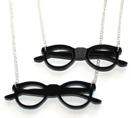 Kette mit Nerdbrillen Anhänger
