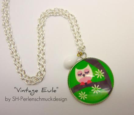 Kette Vintage Eule von sh-Perlenschmuckdesign