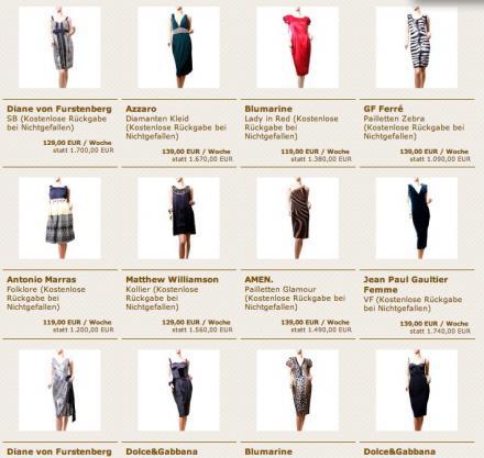 Kleider zum Mieten über Fashionette