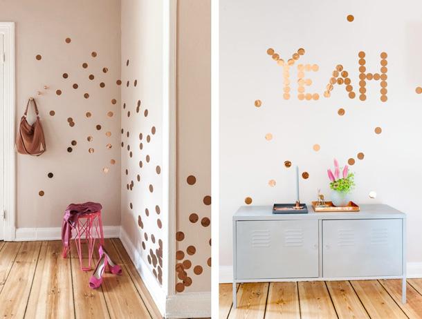 Wanddekoration Konfetti von OhhhMhhh Shop