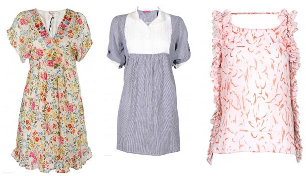 Yumi tunika im floralen design blusenkleid im marinestil von