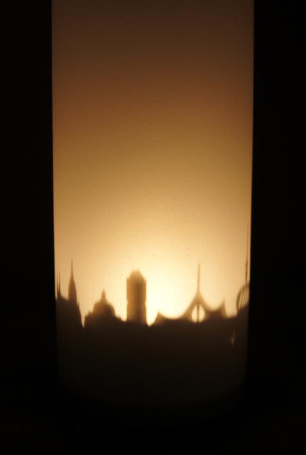 Souvenir München Windlicht