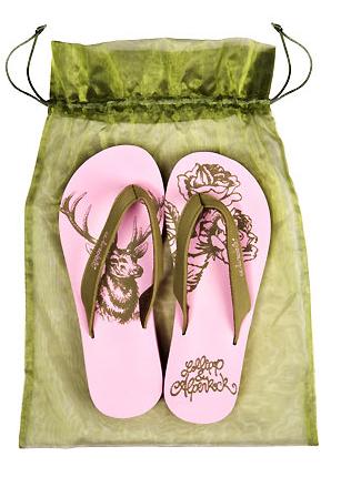 Oktoberfest Accessoire Flip Flops mit Hirsch