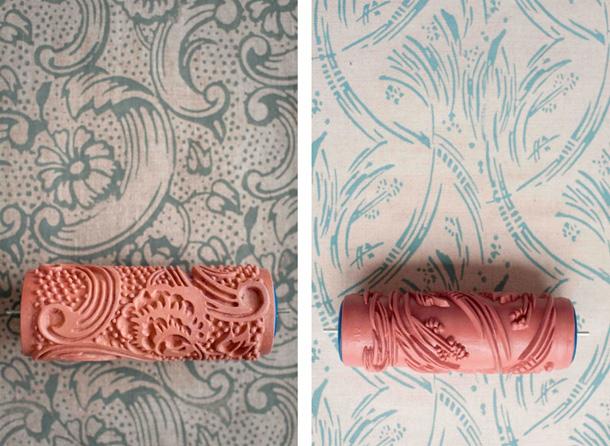raufasertapete gestalten mit gemusterten farbwalzen myshoppingbag. Black Bedroom Furniture Sets. Home Design Ideas