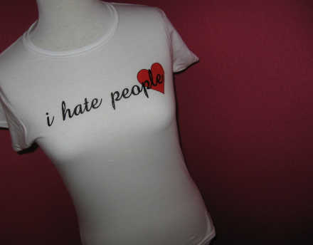Shirt I hate people