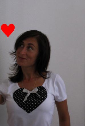 Shirt mit Herz von Zara