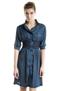 Silk Wrinkle Waist Dress von Minauk