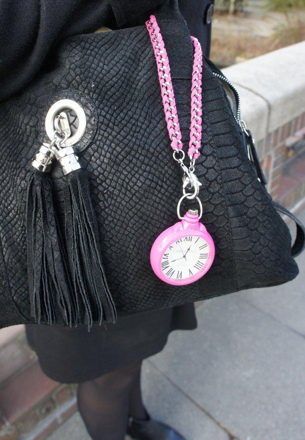 Pinke Taschenuhr Hannah von Candy & Grace
