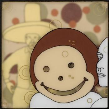 Trouble Monkey Print Lucia Johnson